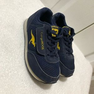 KangaRoos Boys Sneakers Navy Blue & Yellow